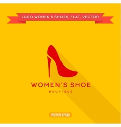 Logo womens shoes with a heel icon vector