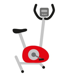 Red stationary bicycle vector
