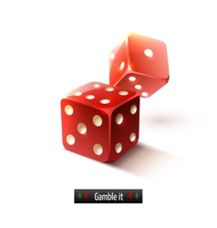 Realistic dice isolated vector