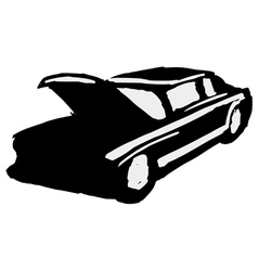 Silhouette of car vector