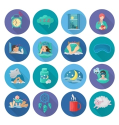 Sleep time icons vector