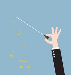Hand conductor baton vector