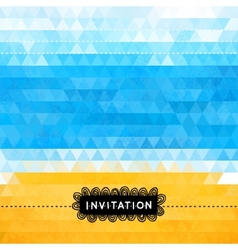 Beach sea sand summer background vector