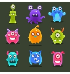 Monsters lovely vector
