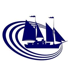 Sailing ship-12 vector