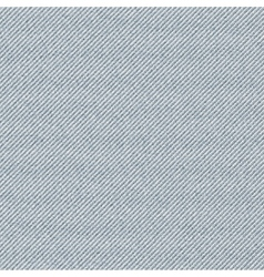 Seamless texture of gray denim diagonal hem vector