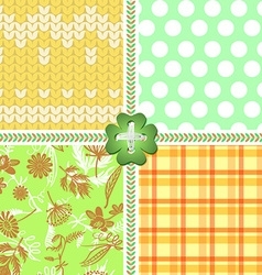 A set of patterns for fabric vector