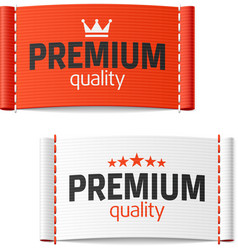 Premium quality clothing label vector