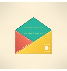 Colorful envelope with copyspace mail and vector