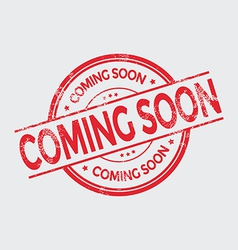 Coming soon grunge rubber stamp on white vector