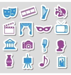 Culture stickers vector