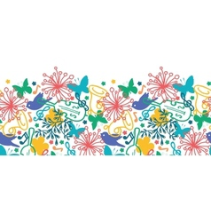 Spring music symphony horizontal seamless pattern vector