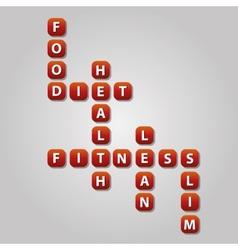Diet crossword vector