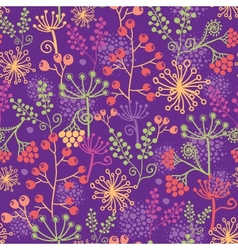 Colorful garden plants seamless pattern background vector
