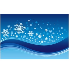 Christmas wave background vector