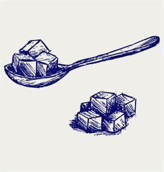 Refined white sugar vector