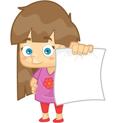 Girl showing her test paper result vector