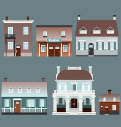 Assorted buildings vector