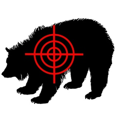Grizzly bear crosshair vector