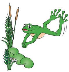 Jumping frog vector