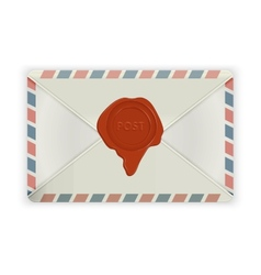 Envelope with wax seal isolated on white vector