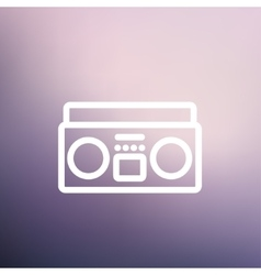 Cassette player thin line icon vector
