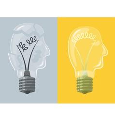 Head lightbulb vector