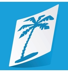 Palm sticker vector