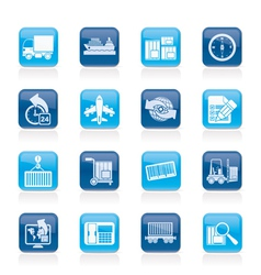 Shipping and logistics icons vector