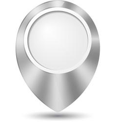 Metal round 3d map pointer vector