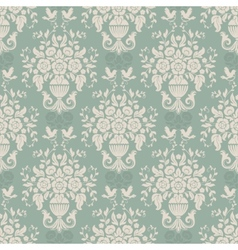 Blue baroque bright pattern vector