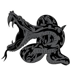 Tribal snake angry tattoo vector