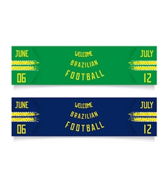 Tickets for football vector