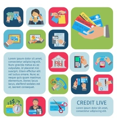 Credit life set vector