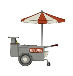 Hot dog stand vector
