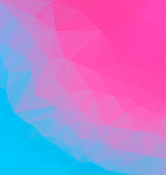 Pink blue abstract polygonal background mosaik vector