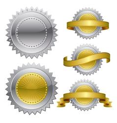 Medal award rosette vector