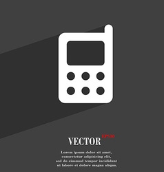 Mobile phone icon symbol flat modern web design vector