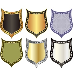 Shield with crowns vector