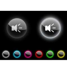 Sound button vector