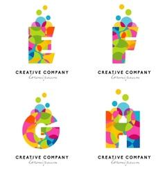 Creative alphabet letters logo vector