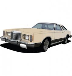 Old sedan vector