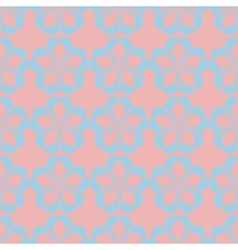 Geometric seamless floral pattern pastel palette vector