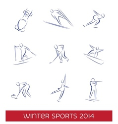 Winter sports icon set vector