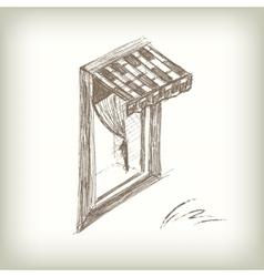 Scribble window vector