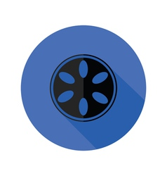 Camera spool flat icon vector