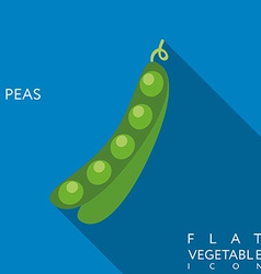 Pea flat icon with long shadow vector