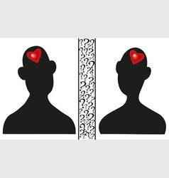 Man and woman silhouettes vector