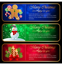 Christmas horizontal banners vector