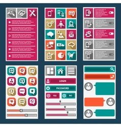 Flat mobile interface vector
